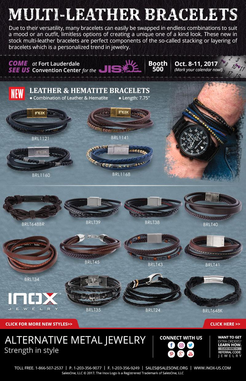 New Multi-Leather Bracelets